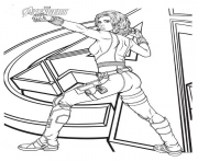 Printable black widow avengers girl power coloring pages