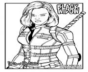 Printable black widow avengers draw it coloring pages