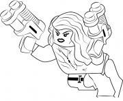 Printable black widow en mode lego coloring pages