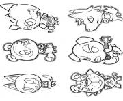 Printable animal crossing 5 coloring pages