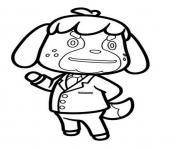 Printable max animal crossing dog coloring pages