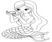 Printable mermaid makeup girl time coloring pages