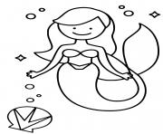 Printable Mermaid princess like Ariel from the Little Mermaid coloring pages