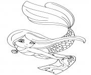 Printable This mermaid has a treasure map coloring pages