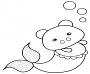 Printable pig mermaid coloring pages