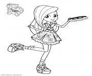 Printable My Little Pony Equestria Girls Fluttershy Princess coloring pages