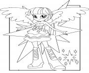 Printable MLP Equestria Girls Twilight Sparkle coloring pages