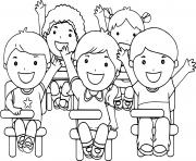 Printable smart student back to school coloring pages