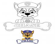 Printable Chase loves to track missing animals coloring pages