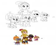 Printable Halloween Paw Patrol 2020 coloring pages