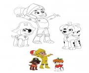 Printable Halloween Paw Patrol Ryder Marshall Zuma coloring pages