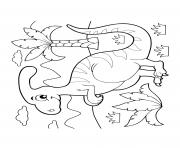 dinosaur cartoon parasaurolophus ferns