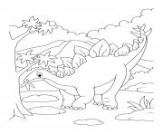dinosaur stegosaurus eating leaves