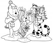 Pooh Tigger Piglet with presents