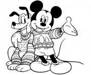 Mickey Pluto in sweaters
