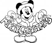 Mickey Mouses sign Merry Christmas