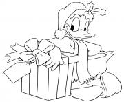 Donald leaning against present