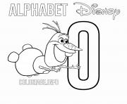 Printable O for Olaf Frozen Disney coloring pages