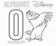Printable O for Owl Disney coloring pages