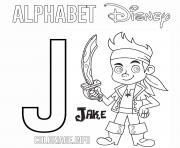 Printable J for Jakes coloring pages
