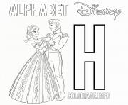 Printable H for Hans from Frozen coloring pages