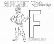 Printable F for Flynn coloring pages