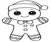 Printable gingerbread man christmas coloring pages