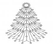 Printable Spiky angled Christmas tree coloring pages