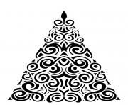 Pretty swirls on an abstract Xmas tree design