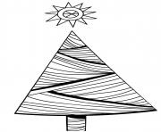 Simple Christmas tree with lines