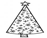 Printable Tall and thin Christmas tree coloring pages