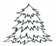 Simple blank Christmas tree