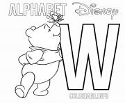 Printable Letter W Winnie The Pooh Alphabet Disney coloring pages