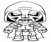 Printable Doctor Doom Fortnite coloring pages