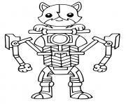 Printable Kit Cat Fortnite coloring pages