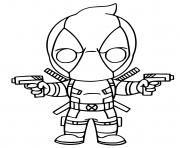 Printable Deadpool Fortnite X Force Skin coloring pages