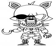 Printable Grim Foxy coloring pages