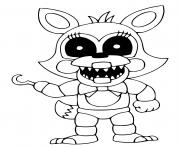Printable FNAF coloring pages