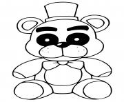 Printable Fredbear coloring pages