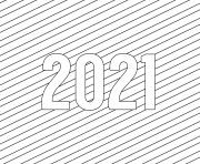 Printable 2021 Year coloring pages