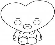 Printable funko pop bt21 tata coloring pages