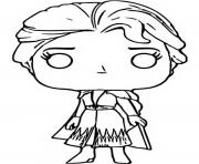 Printable funko pop frozen 2 elsa coloring pages