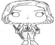 Printable funko pop marvel avengers infinity war black widow coloring pages