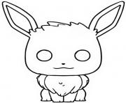 Printable funko pop pokemon evoli coloring pages