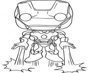 Printable Funko Pops Marvel Ironman coloring pages