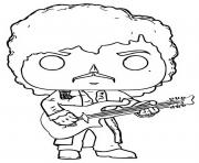 Printable funko pop rock prince purple rain coloring pages