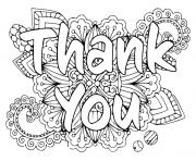 thank you with large floral design
