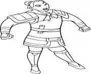 Printable mulan as a soldier coloring pages