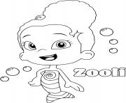 zooli bubble guppies coloring pages