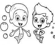 goby gil bubble guppies coloring pages